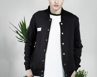 Organic Varsity Jacket - Black