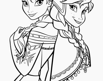 frozen instant download coloring pages digital printable design coloring page printable frozen printable - Frozen Printable Coloring Pages