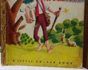 "Johnny Appleseed Little Golden Book ""A"" Edition"