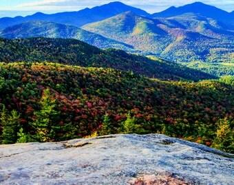Autumn Landscape, Fall Foliage, Landscape Art, Adirondack Mountain Photo, Fine Art, Nature Print, Adirondack Photograph, Keene Valley Photo