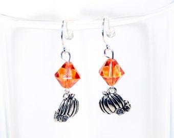 Pumpkin Earrings - Halloween Earrings - Halloween Jewelry - Fall Earrings