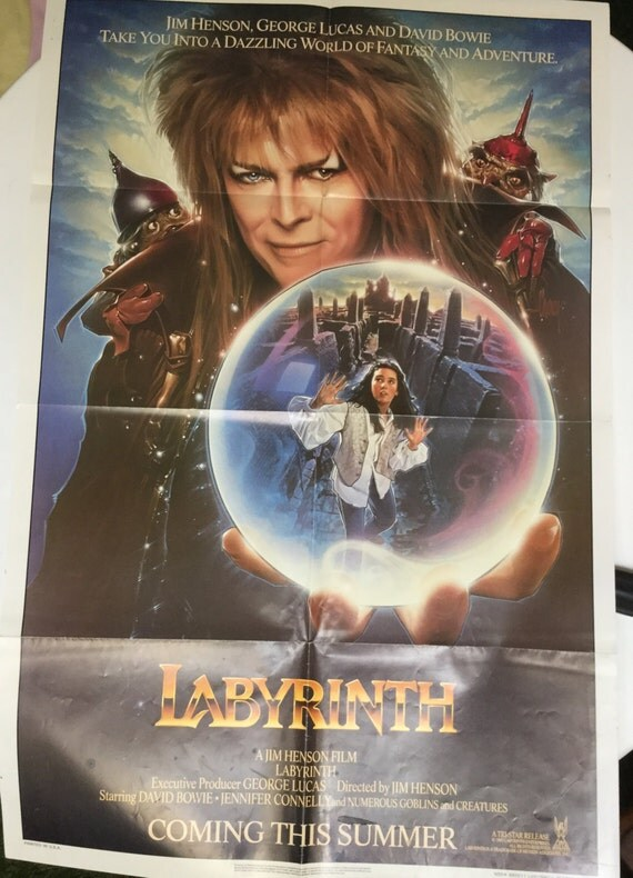 Labyrinth ORIGINAL Movie Poster 1986 Labyrinth 1986 Poster