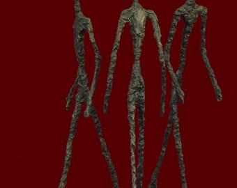 Three Walking Man Tribute To Giacometti Hot Cast Bronze Sculpture Home Decor Figurine Decorative Figure Abstract Statue Lost Wax Method