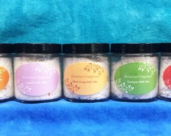 All Natural Essential Oil Bath Salts-4oz