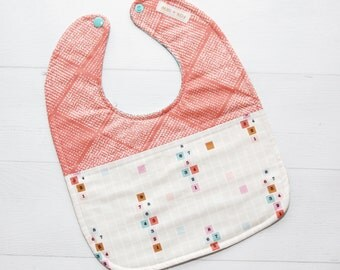 Retro Words Bib (Reversible)