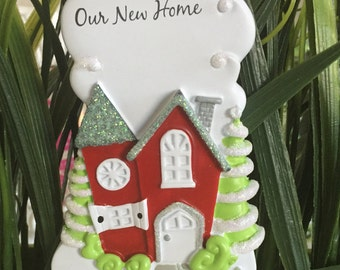 New Home Christmas Ornament>>FREE PERSONALIZE>>FREE Holiday gift bag>>Merry Christmas