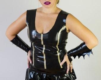 Batgirl Catwoman Latex Mask Halloween Costume