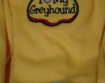 Custom Embroidery for your Italian Greyhounds Clothing