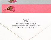 Monogram Return Address Stamp, Self Inking Address Stamp, Custom Address Stamp, Holiday Address Stamp  H116