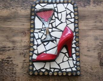 red shoe mosaic