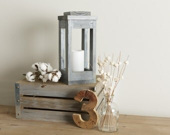 Rustic Lantern  / Lantern Candle Holder / Lantern Centerpiece / Lanterns / Farmhouse Lantern / Farmhouse Decor / Christmas Centerpiece