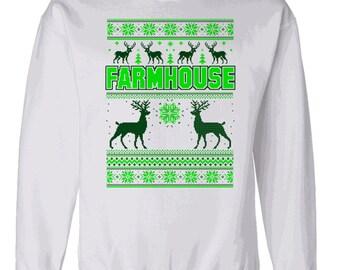 Farmhouse Ugly Christmas Sweater Crewneck