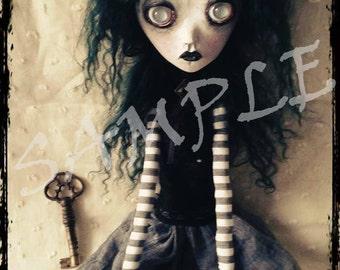 OOAK Handmade Art doll ABIGAIL Fine Art Print, Limited Edition, Numbered 1 of 20