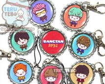 "BTS kpop ""RUN"" (Bangtan Boys) kpop dust plug/ cell phone charm / keychain"