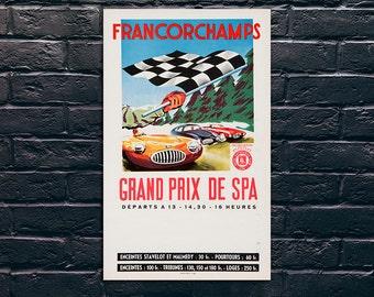 Vintage Grand Prix Poster, Car Race Poster, Vintage Poster, Vintage Poster
