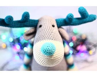 Crochet toy amigurumi Christmas REINDEER