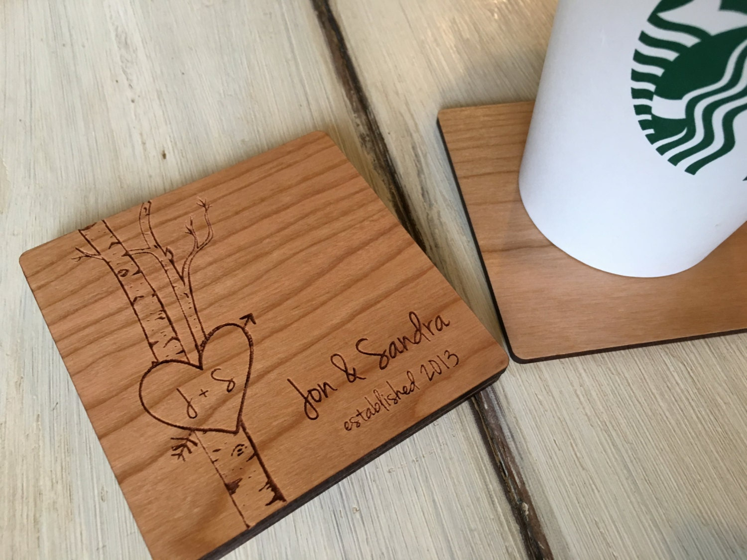 Unique Wedding Gifts For Older Couples: Custom Coasters Wedding Gifts For Couple Christmas Gift