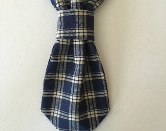 Blue Plaid Pet Tie, Neck tie