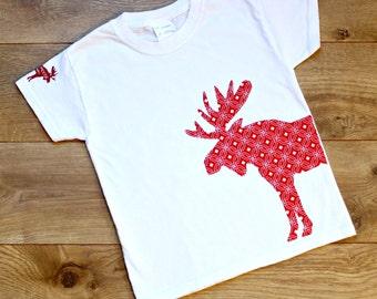 Moose Shirt, Toddler Tee, Woodland Animal Nursery, Woodland Baby Shower, Kid Shirt, Short Sleeve Shirt, Children Shirt, Kid Clothing