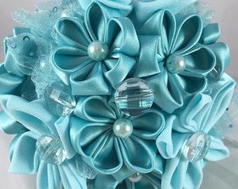Wedding Bouquet, Recital Bouquet, Bridesmaid Bouquet, Fabric, Kanzashi Bouquet