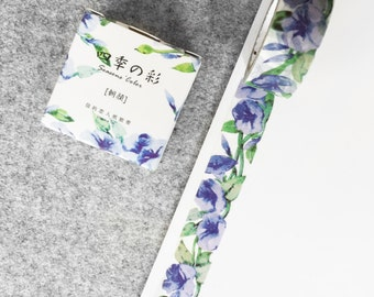 Cute washi tape - purple flowers   Cute Stationery