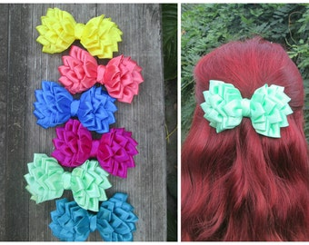 Hair Bow, Hair Clip,Pink hair bow,hair bow pink girls,turquoise hair bow,coral hair bow,crimson hair bow,Hair Accessories,blue hair bow