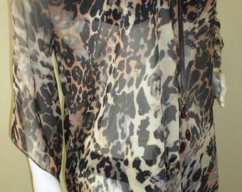 Leopard Pareo, Beach Sarong, Beach Cover up,  Swimwear wrap Pareo, Beach dress, Womens Beachwear, Ladies summer dress, wrap on swimsuit