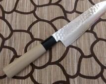 Damascus VG-10 Japanese Style Santoku Knife 180mm Chef Sushi Japan GO YOSHIHIRO