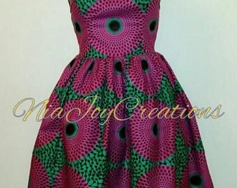 African Clothing: Nandi African Print Dress