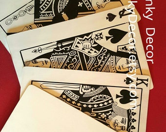 Royal Flush, Large playing card, oversize card, King, wall decor, game room, man cave, poker, wall hanging, texas hold 'em