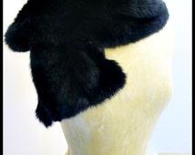Rabbit Fur Scarf black