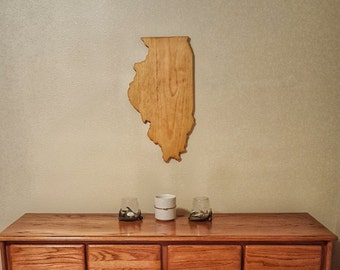 Illinois, Illinois Sign, Illinois State Sign, Illinois Wood Sign, Illinois Wooden Sign, Illinois Outline, Illinois Home Decor, Illinois Art
