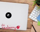 Yin Yang Macbook Decal Yin and Yang Macbook Air Macbook Pro Sticker Decal Vinyl Japanese Macbook Decal Chinese Decal Avatar Decal Black Mac