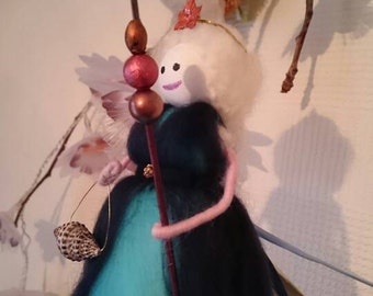 Beautiful Wool Felt Fairy. Atlantic Blue. wool felt fairy