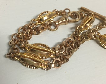 Sale! Antique Edwardian Era Yellow Gold Filled Pocket Watch Chain with Fob – Draper's V Best - Men's Fashion
