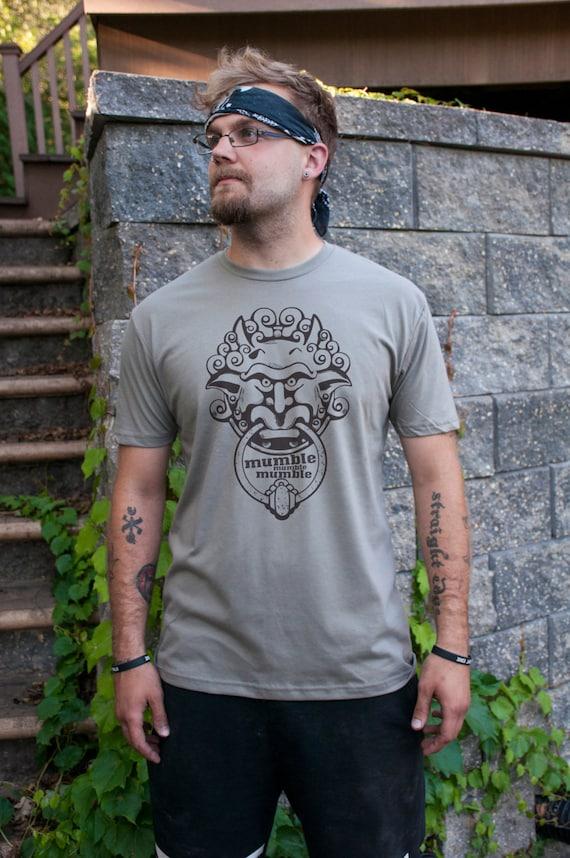 Mumble Mumble Mumble Men S Labyrinth Door Knocker T Shirt