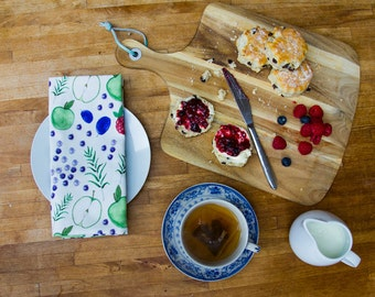 Garden Fruit Tea Towel