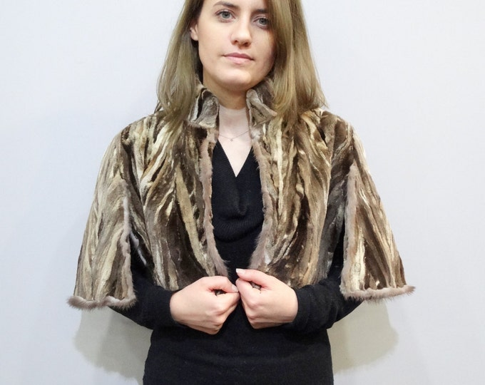 Real sheared mink pieces fur stole F210