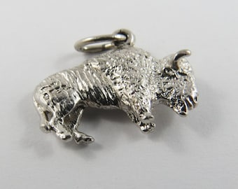 Bison Sterling Silver Charm or Pendant.