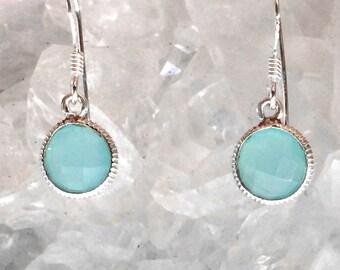 Chalcedony Earrings | Chalcedony Jewelry | Chalcedony | Gemstone Earrings | Gemstone Jewelry | Drop Earrings | Blue Earrings | Ocean Jewelry