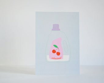 """Fabric softener"" postcard - Home decor - Kitchen"
