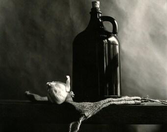 still life # 36. Darkroom silver print