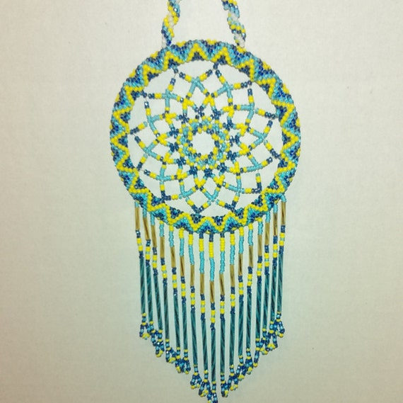 San Diego Chargers Beaded Dream-Catcher, window hanging, light catchers.