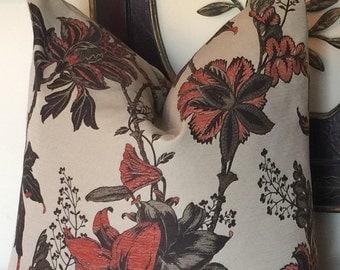 Floral Orange Pillow Cover, Fall Throw Pillows, Decorative Pillows, Autumn Pillow Covers, Home Living, Sofa Pillow 0047