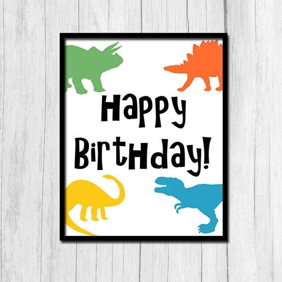 Dinosaur Birthday Digital Download Dinosaur Birthday Printable