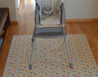 Little Monsters-Splat Mat / Art  Mat - Baby High Chair Washable Protection - Choose Your Patttern