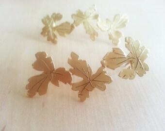 Medium grape leaves earrings