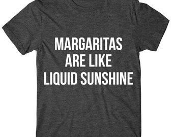 Margaritas Are Like Liquid Sunshine, Womens Graphic Tee, Womens Graphic Tshirt, Silver, Glitter And Neon Print