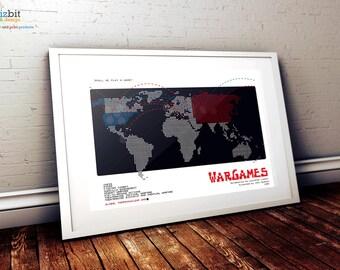 WarGames Movie Poster- High Quality Art Print - Landscape Version (war games)