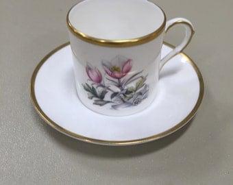 6 Sets Royal Worcester demitasse cups & saucers